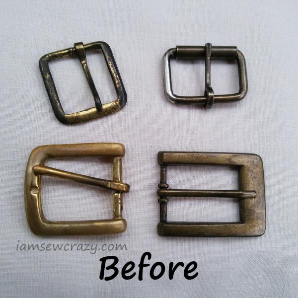 tarnished belt buckles