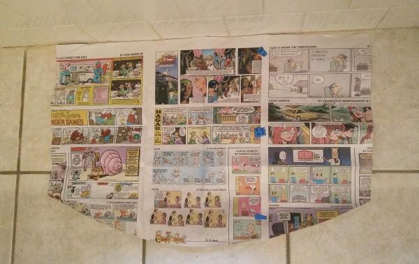 newspaper rug template