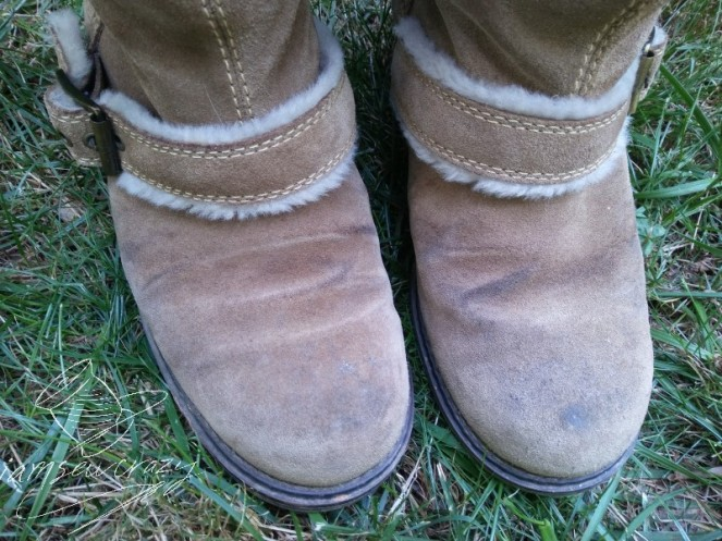dirty suede boots