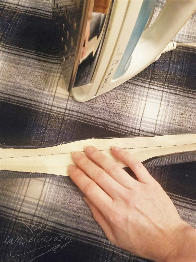flattening tote bag strap