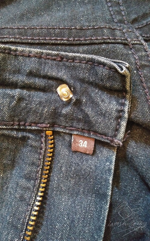 jeans with missing button