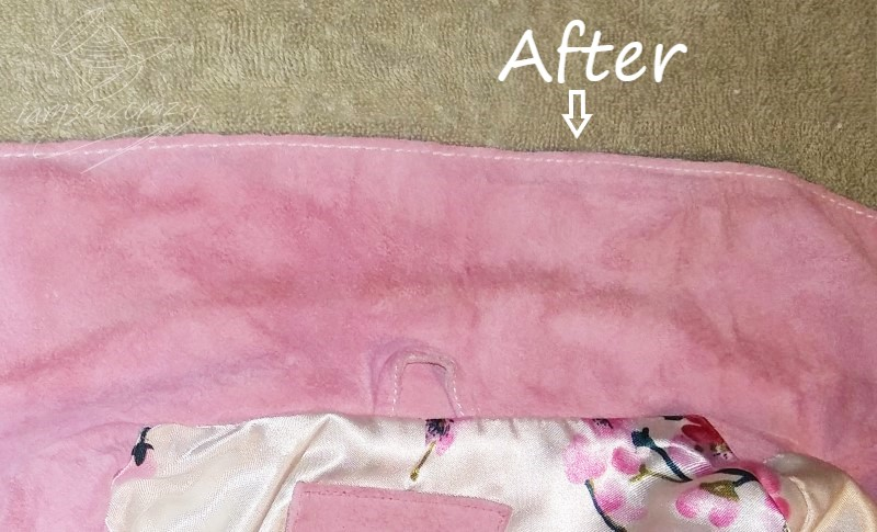 suede after cleaning with baking soda