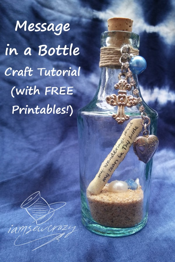 bible verse message in a bottle craft