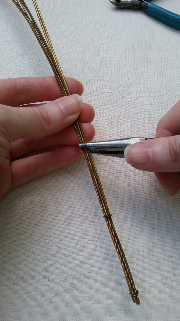 clamping lily stem together
