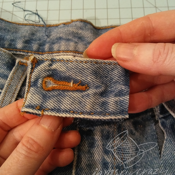 cut piece of waistband