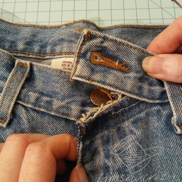 cutting waistband stitches