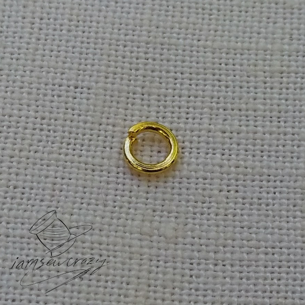 jump ring on cloth background