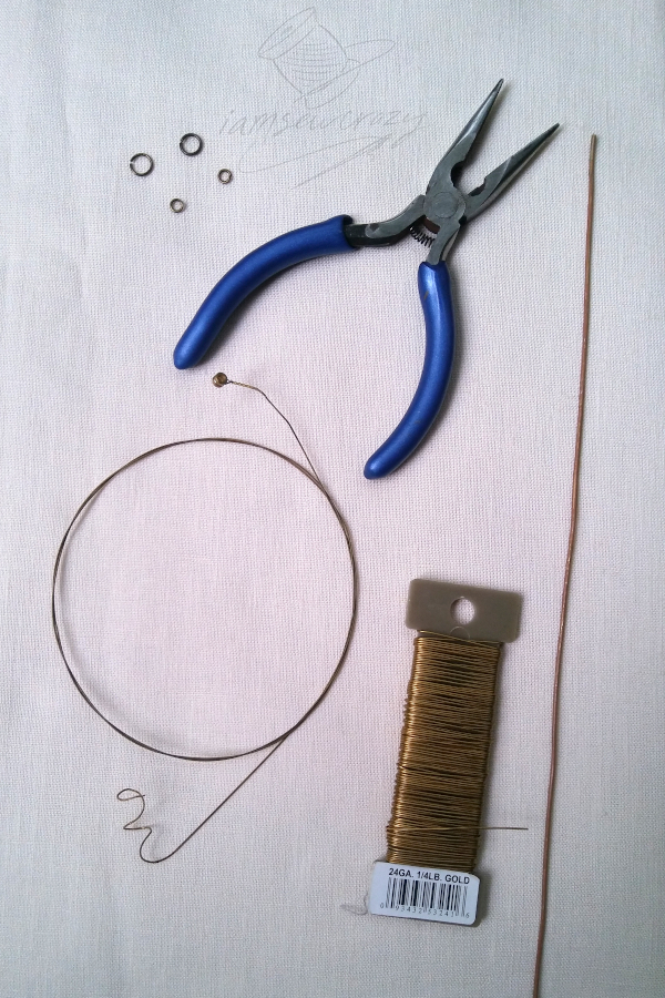 materials to make a metal lily sculpture