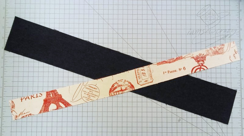 strips of fabric to make tote bag straps