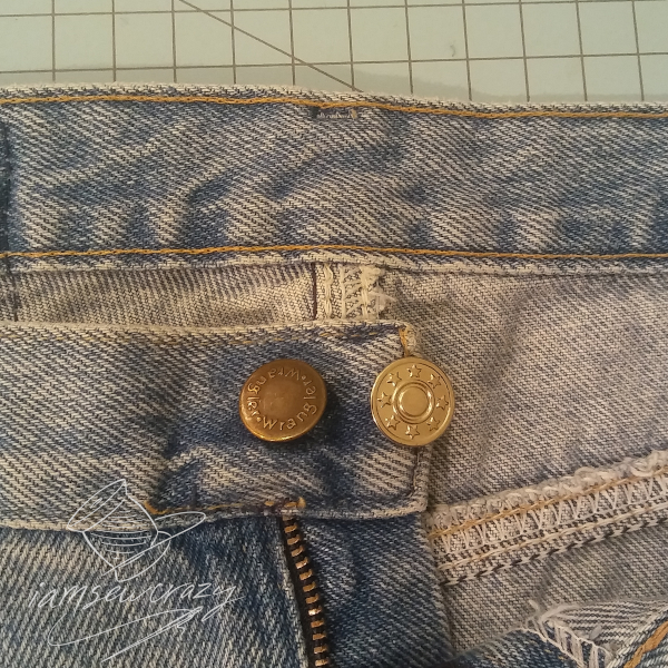 two buttons on waistband