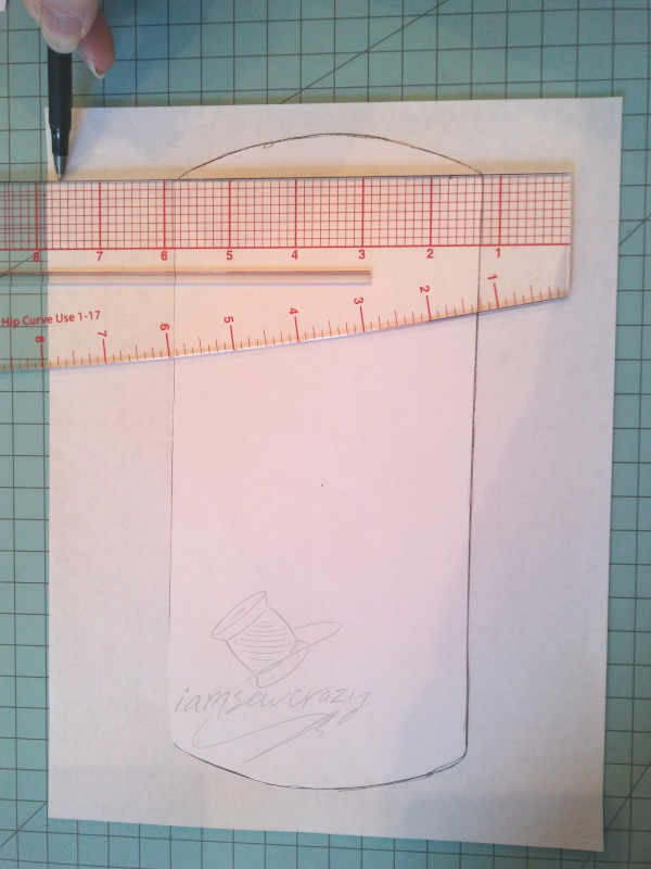 adding wings to sewing pattern