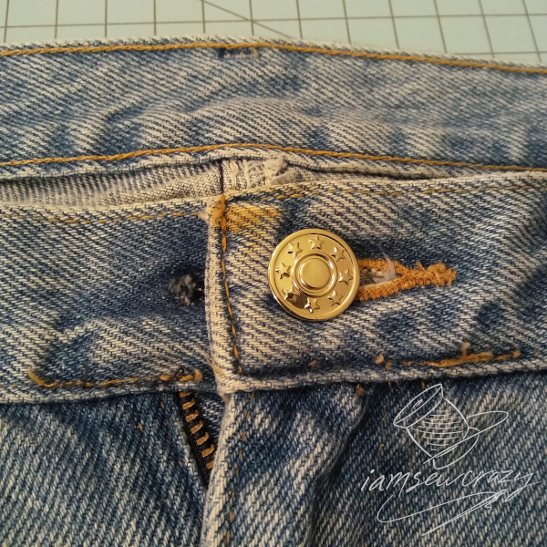 jeans button moved