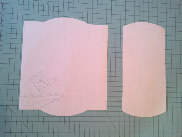 mop pad sewing pattern pieces