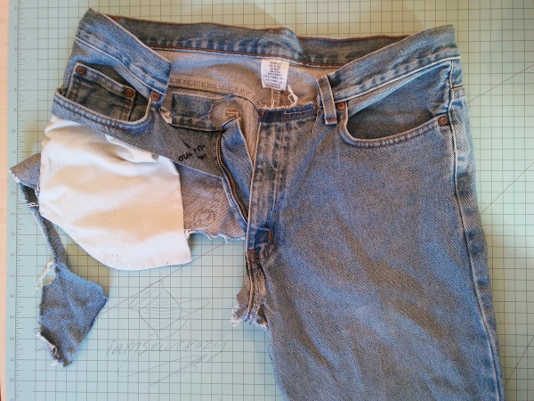 worn-out jeans