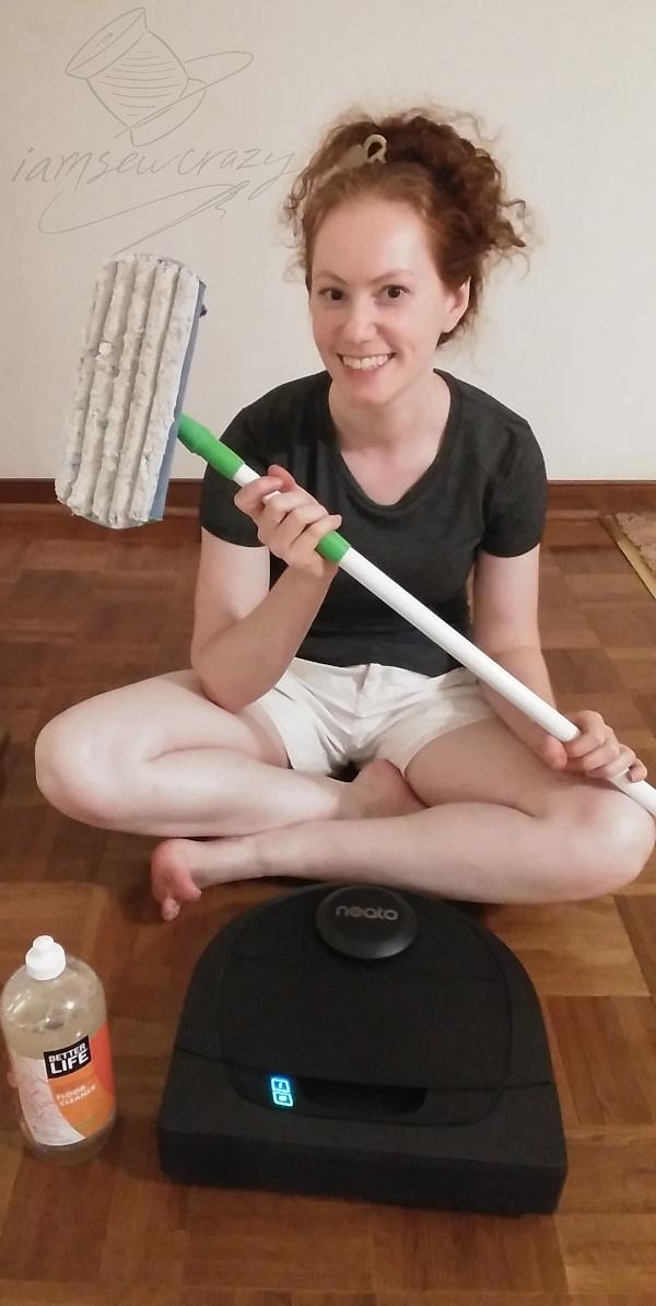 mop, robot vacuum, and floor cleaner