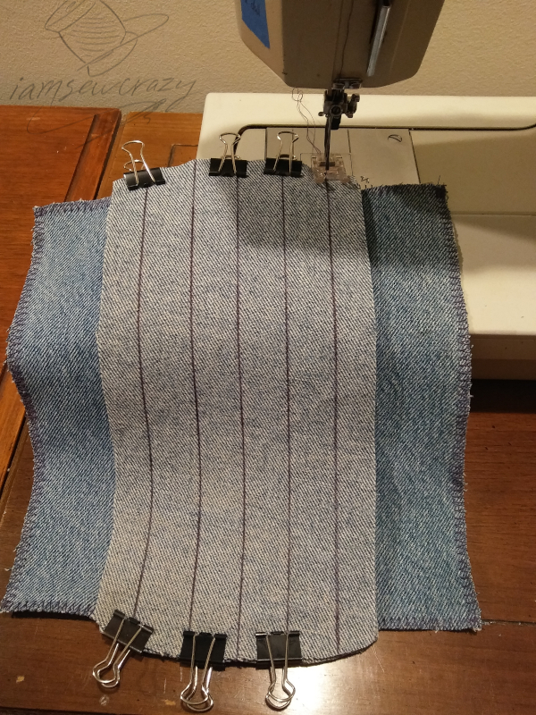 using binder clips to hold multiple fabric layers together