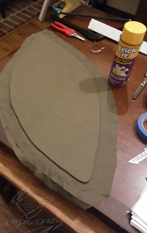 covering foam costume wings with fabric