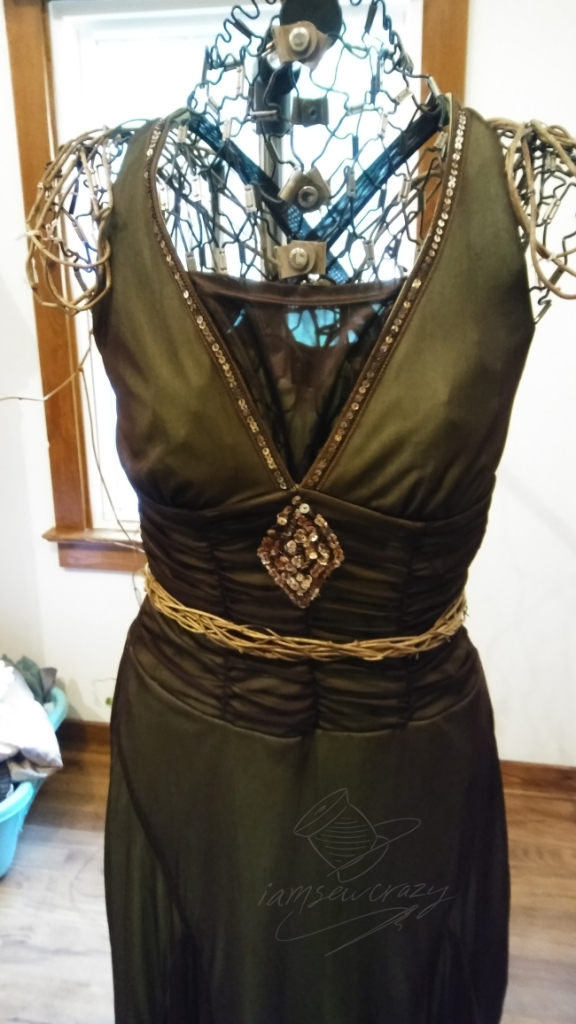 fairy dress with belt made of vines