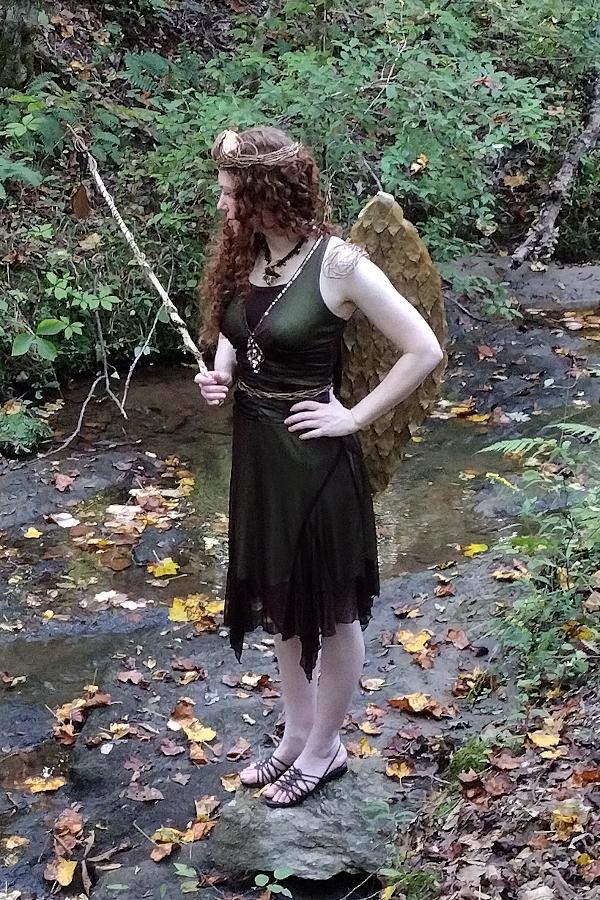 fairy standing in creek