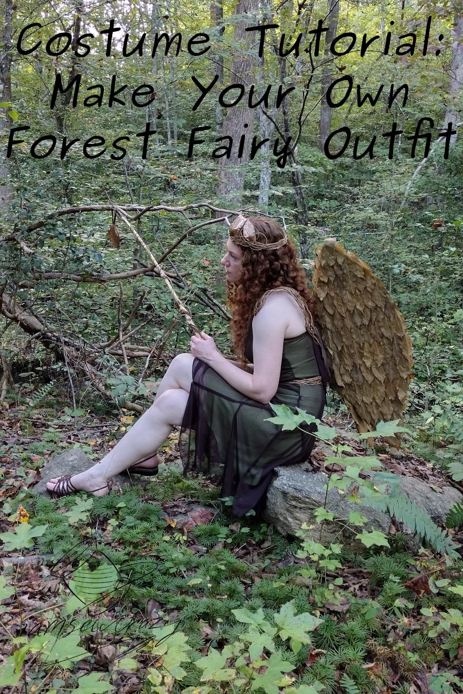 woodland fairy sitting on rock